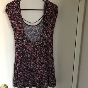 Floral top with scoop back